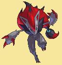 Zoroark-Sprite aus Pokémon Conquest