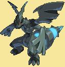 Zekrom-Sprite aus Pokémon Conquest