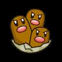 Bild von Digdri aus Pokémon Link Battle
