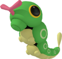 Raupy-Sprite aus Pokédex 3D Pro