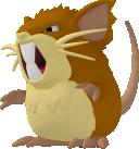 Rattikarl-Sprite aus Pokédex 3D Pro
