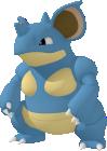 Nidoqueen-Sprite aus Pokédex 3D Pro