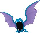 Golbat-Sprite aus Pokédex 3D Pro