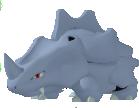 Rihorn-Sprite aus Pokédex 3D Pro