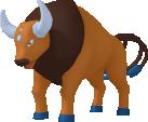Tauros-Sprite aus Pokédex 3D Pro