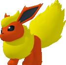 Flamara-Sprite aus Pokédex 3D Pro