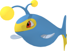Lanturn-Sprite aus Pokédex 3D Pro