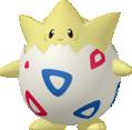 Togepi-Sprite aus Pokédex 3D Pro