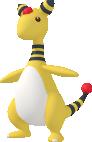 Ampharos-Sprite aus Pokédex 3D Pro