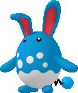 Azumarill-Sprite aus Pokédex 3D Pro
