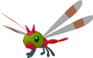 Yanma-Sprite aus Pokédex 3D Pro