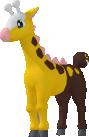Girafarig-Sprite aus Pokédex 3D Pro