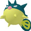 Baldorfish-Sprite aus Pokédex 3D Pro