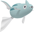 Remoraid-Sprite aus Pokédex 3D Pro