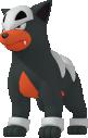 Hunduster-Sprite aus Pokédex 3D Pro