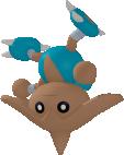 Kapoera-Sprite aus Pokédex 3D Pro