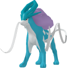 Suicune-Sprite aus Pokédex 3D Pro