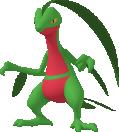 Reptain-Sprite aus Pokédex 3D Pro