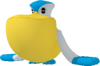 Pelipper-Sprite aus Pokédex 3D Pro
