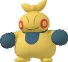 Makuhita-Sprite aus Pokédex 3D Pro