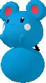 Azurill-Sprite aus Pokédex 3D Pro