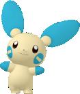 Minun-Sprite aus Pokédex 3D Pro