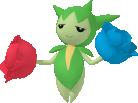 Roselia-Sprite aus Pokédex 3D Pro