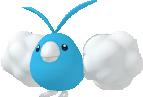 Wablu-Sprite aus Pokédex 3D Pro