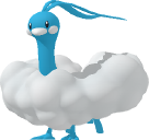 Altaria-Sprite aus Pokédex 3D Pro