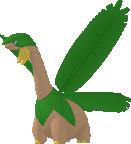 Tropius-Sprite aus Pokédex 3D Pro