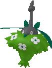 Burmadame-Sprite aus Pokédex 3D Pro