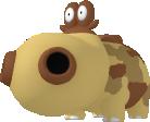 Hippopotas-Sprite aus Pokédex 3D Pro