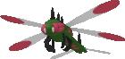 Yanmega-Sprite aus Pokédex 3D Pro