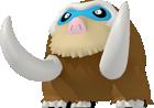 Mamutel-Sprite aus Pokédex 3D Pro