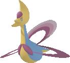 Cresselia-Sprite aus Pokédex 3D Pro