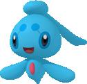 Phione-Sprite aus Pokédex 3D Pro