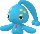 Manaphy-Sprite aus Pokédex 3D Pro