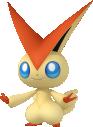 Victini-Sprite aus Pokédex 3D Pro