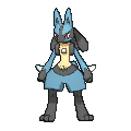 Lucario-Sprite (XY, normal, vorne)