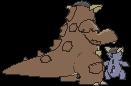 Kangama-Sprite (XY, normal, Rückseite)