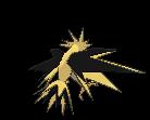 Zapdos-Sprite (XY, normal, Rückseite)