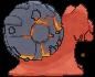 Magcargo-Sprite (XY, normal, Rückseite)