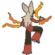 Lohgock-Sprite (XY, normal, Rückseite)