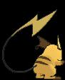 Raichu-Sprite (XY, normal, Rückseite)