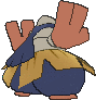 Hariyama-Sprite (XY, normal, Rückseite)