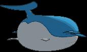 Wailord-Sprite (XY, normal, Rückseite)