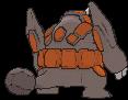 Rihornior-Sprite (XY, normal, Rückseite)