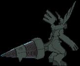 Zekrom-Sprite (XY, normal, Rückseite)