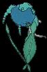 Florges-Sprite (XY, normal, Rückseite)
