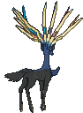 Xerneas-Sprite (XY, normal, Rückseite)